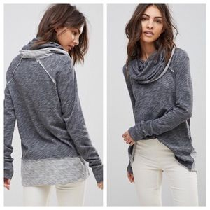 Free People Beach Cocoon Cowl Top Gray OS